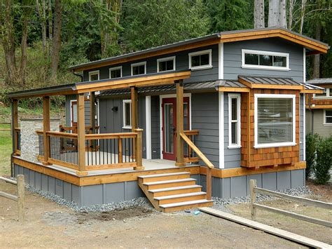 Tiny House Deck by San Juan Cottage From West Coast Homes Tiny House For