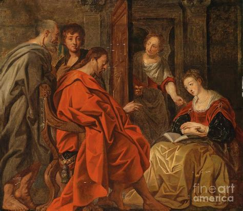 mary martha house christ in the house of mary martha and lazarus painting by