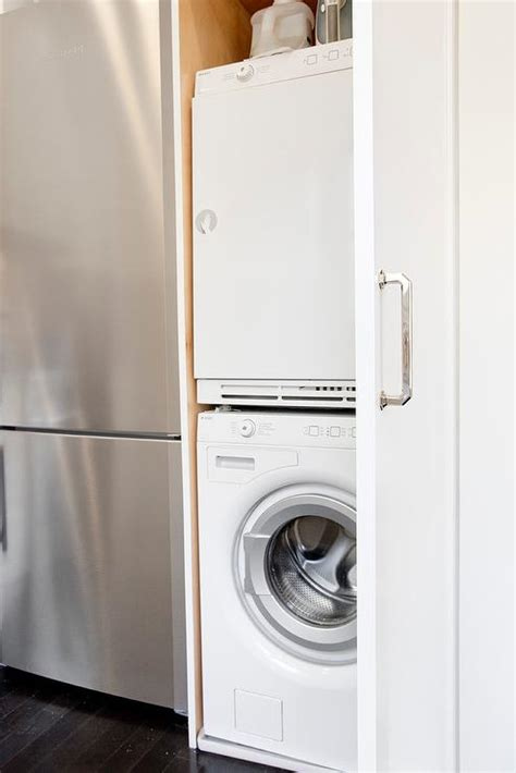 washer and dryer in kitchen stacked washer and dryer design ideas
