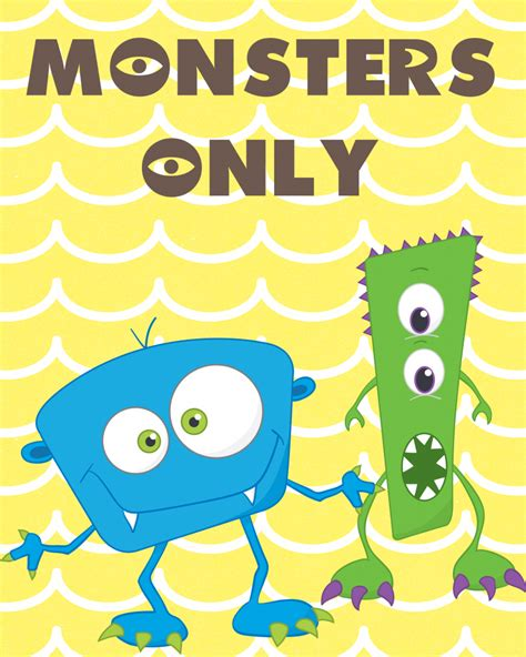 monsters free monsters only printable pack our thrifty ideas