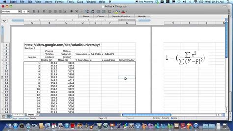 tutorial excel regresion lineal coeficiente de determinacion r2 regresi 243 n lineal simple