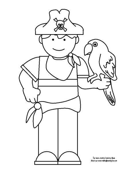pittsburgh pirate parrot coloring page coloring pages
