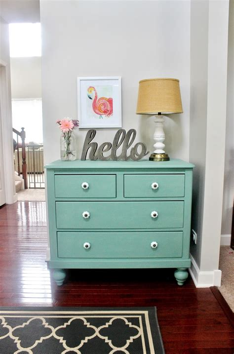 mint color dresser meet pearl chalk paint dresser makeover delightfully noted