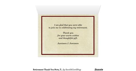 thank you letter for retirement retirement thank you note three canoes stationery