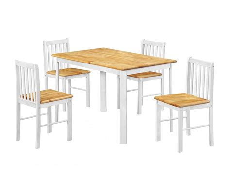heartlands sheldon dining table with 4 chairs in oak and