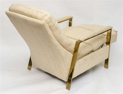milo baughman recliner for sale milo baughman brass recliner 1970s for sale at 1stdibs