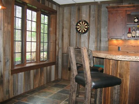 rustic finished basement bar styed as pub rustic basement cleveland by