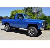 Sell Used 1973 Chevy K10 4x4 Blue Lifted No Rust Short