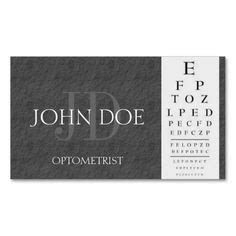 optometry business cards templates free optometrist chart black business cards by bizcards4u
