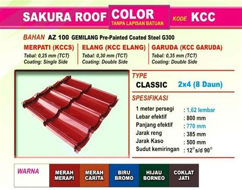 Seng Multiroof Di Palembang harga genteng metal roof terbaru 2018