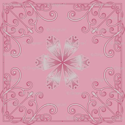 soft baroque pattern pink juliesfabrics spoonflower soft pink flourishes and flowers fabric gingezel