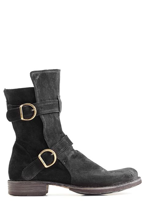 bakers boots lyst fiorentini baker suede boots black in black for