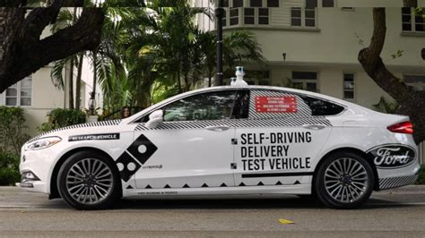 Dominos Pizza Cars by Ford And Domino S Test Self Driving Delivery Cars