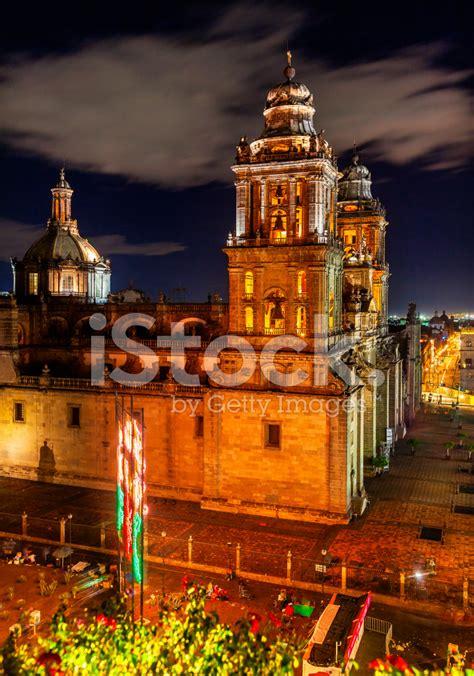 zocalo night metropolitan cathedral zocalo mexico city at night mexico