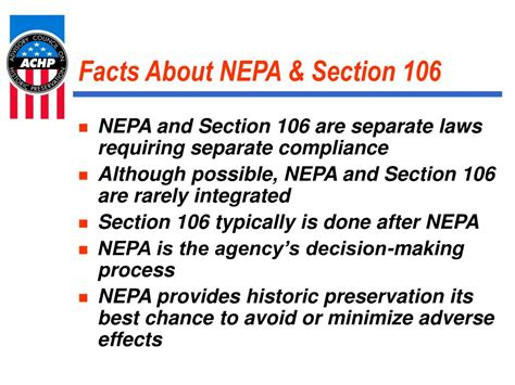 nepa section 106 ppt mitigation in the section 106 process powerpoint