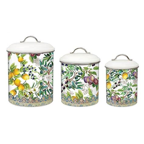 tuscan style kitchen canister sets michel design works kitchen 3 piece canister set tuscan