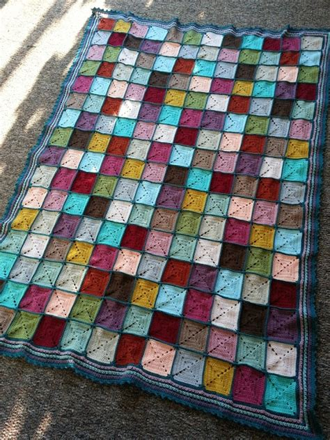 Patchwork Square Afghan - crochet afghan square patchwork crochet