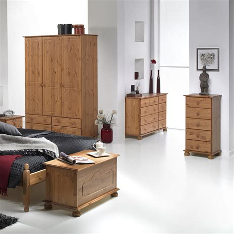 Copenhagen Bedroom Furniture Copenhagen 2 Door 2 Drawer Wardrobe Pine Fads