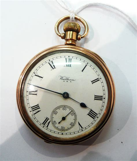 tennants auctioneers a waltham 9ct gold pocket