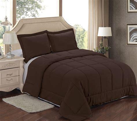 Chocolate Brown Comforter Set by Purple White Comforter Set 6 King Size Reversible