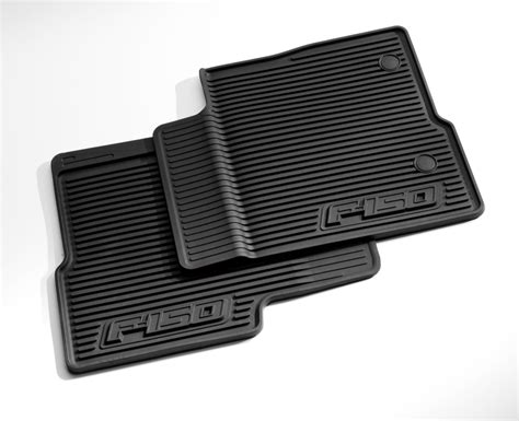 floor mats all weather thermoplastic rubber black front