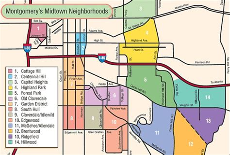 montgomery alabama map midtown montgomery neighborhoods