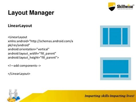 layout manager android android application fundamentals