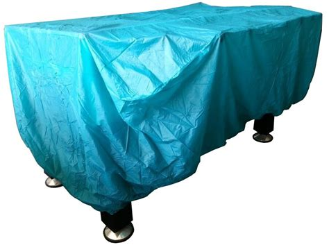foosball table cover in blue for all indoor foosball