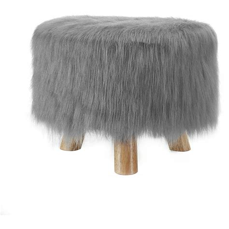 faux fur ottoman with storage ottomans faux fur chair slipcover white furry ottoman