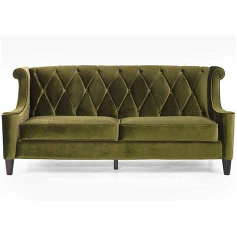 velvet sofa sets armen living barrister 3 velvet sofa set in green