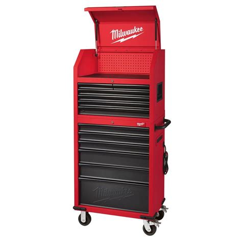 milwaukee 30 in 12 drawer steel tool storage chest and