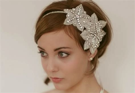 updos with wire band chic bridal headbands unique wedding hair accessories
