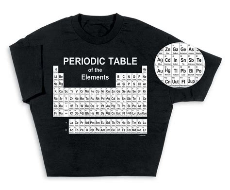 periodic table of elements t shirt look smart with periodic table of elements t shirt
