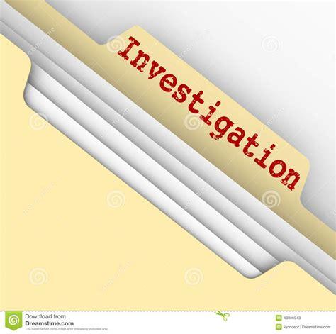Investigator Finder Investigation Manila Folder Research Findings Paper File