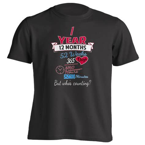 1st Anniversary Gift Couples Shirt 1 Year but Whos