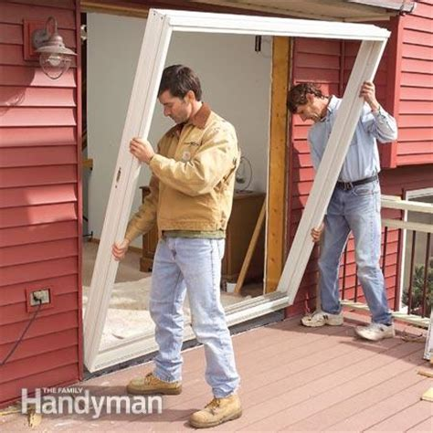 Cost To Install Exterior Door And Frame Replace A Patio Door The Family Handyman