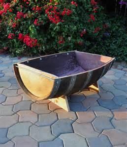 trough 1 2 barrel planter handmade ebay