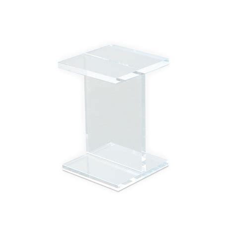acrylic accent table best acrylic accent table with gus modern acrylic i beam