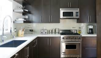 Kitchen Backsplash With Dark Cabinets by Espresso Kitchen Cabinets Design Ideas