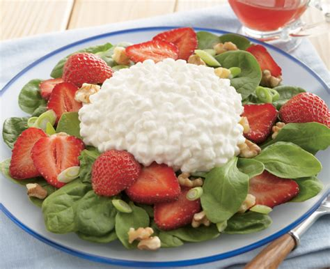 Strawberry Cottage Cheese by Strawberry Spinach Cottage Cheese Salad Brand