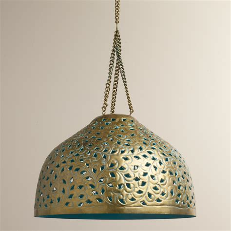Metal Bell Pendant Light with Desiree Metal Bell Pendant L World Market