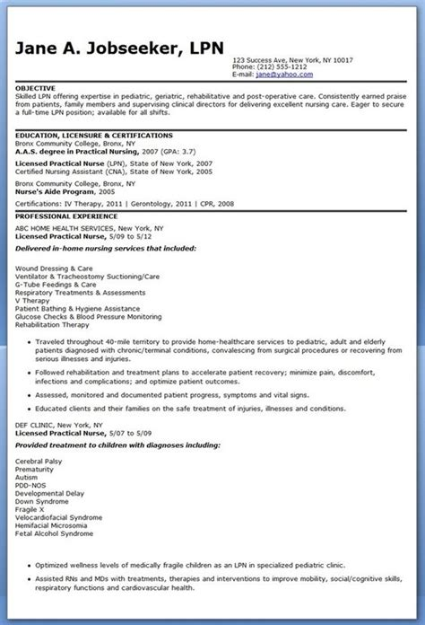 Nursing Resume Exles 2015 by Lvn Resume Objective 28 Images Lvn Resume Lvn Resume
