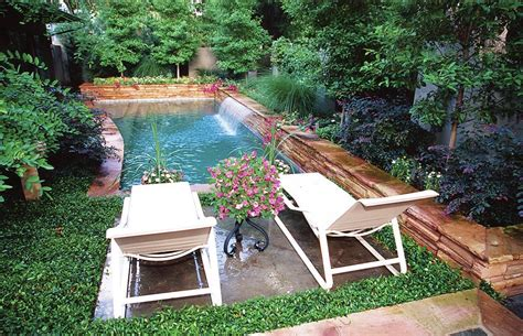 small built in pools awesome poolyard design with double sunbed ideas for built
