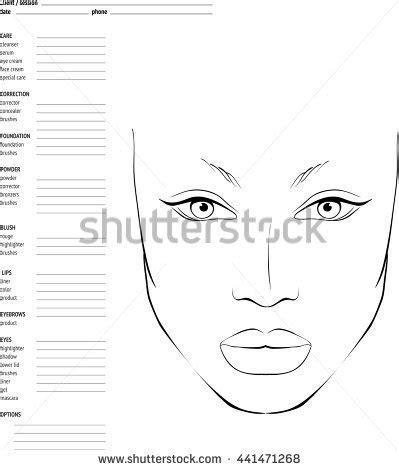 face chart makeup artist blank template stock vector art blank makeup face chart template hairsstyles co