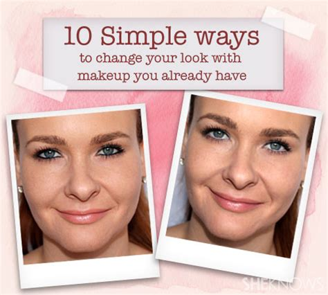 how to change your look 10 simple ways to change your look with makeup you own