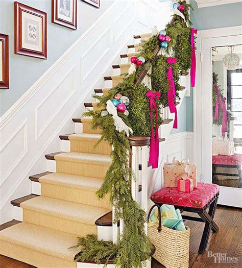Banister Decorations For by 40 Festive Banister Decorations Ideas All About