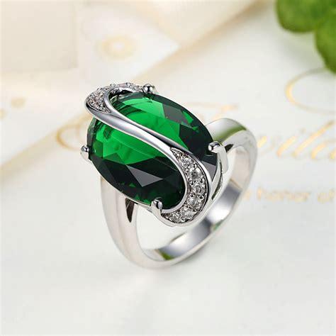 Cincin Oval cincin wanita oval size 7 green jakartanotebook