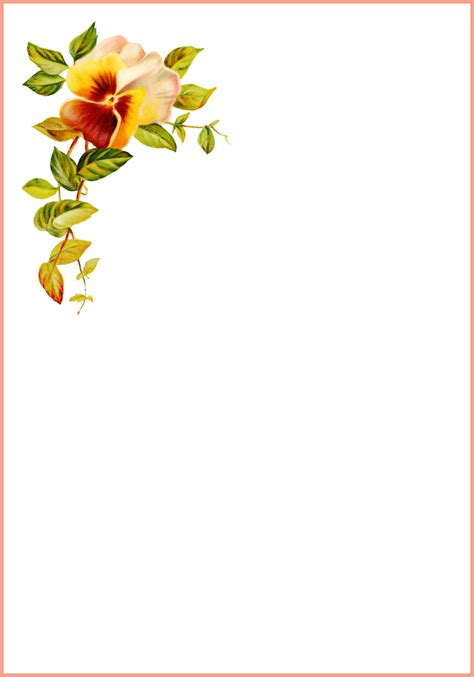 card template for flowers printable thank you cards free printable greeting cards