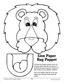 paper bag cat puppet pattern lion paper bag puppet pattern 2015 vbs pinterest