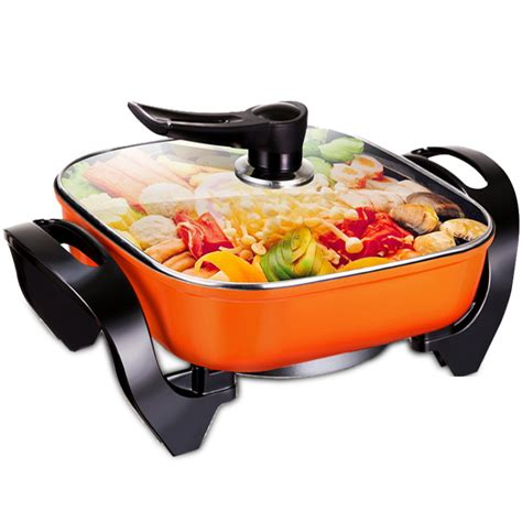 Electrik Frying Pan Multi Fuction ceramic cooking pots kitchen appliances korean multi function electric cooker kettle frying pan